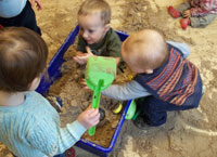 Play time in the sandpit!
